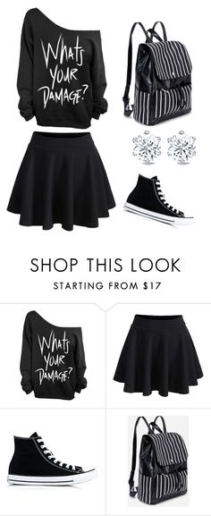 """""""Heathers"""" by amymg7 ❤ liked on Polyvore featuring WithChic and Converse"""