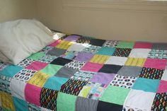 Geeky Chic twin quilt Made by Heather Miller of Laundry Room Quilts