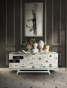 Sideboard design by Boca do Lobo | see more at: www.bocadolobo.com #bocadolobo #luxuryfurniture #furniture #furnituredesign #designideas #interiordesign #sideboard