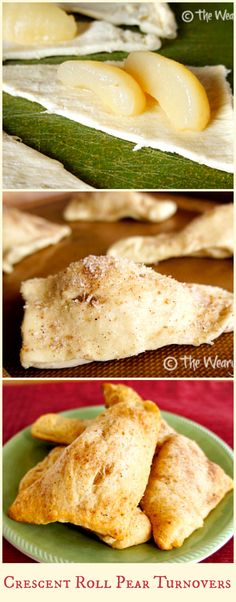 Try these Crescent Roll Pear Turnovers: So easy, not too sweet, and fun to make with kids!