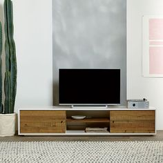 Reclaimed Wood + Lacquer Media Console - 80"