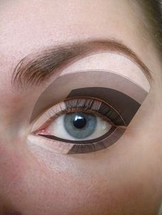 How to apply eyeshadow - this is the best diagram I have seen yet.