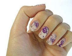 flower nail nail ~~girl's favourite art nail. Anstop on Wish