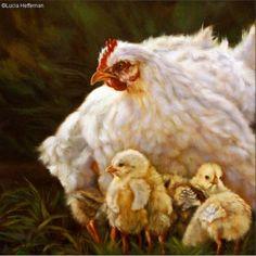 MOTHER HEN BY LUCIA HEFFERNAN Artists, Animals, Animales, Animaux, Animal, Animais, Artist