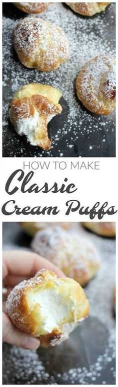 Learn how to make cream puffs from scratch using the basic pate a choux pastry. Fill with chantilly cream or pastry cream.