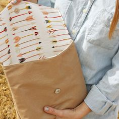 Learn how to make this super cute and functional envelope clutch!
