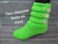 Découvrez la technique du tressage au tricot grâce à ce tuto de chaussons pour femme tresses et boutons au tricot facile à réaliser!
