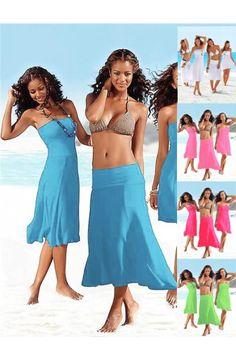 Tunika za plažo Beautiful Summer, Modra