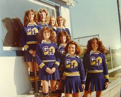 Cheerleaders 1982 - Bing images Cheerleader Images, Cheerleading Pictures, Cheerleading Uniforms, Private School Uniforms, Old School, High School, Band Uniforms, Professional Cheerleaders, Varsity Sweater
