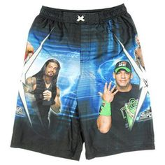 WWE Superstars John Cena Boardshorts Swim Trunks - X-Small, Black
