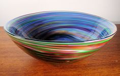 Frit Swirl Bowl. Gotta work out how this has been done...                                                                                                                                                                                 More