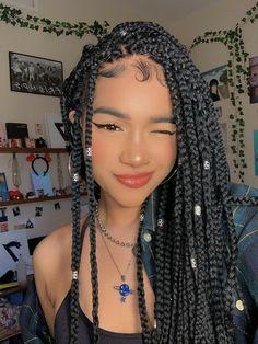 Black Girl Braided Hairstyles, Black Girl Braids, Braids For Black Hair, Girls Braids, Black Girl Hair, Black Hairstyle, Baddie Hairstyles, Girl Hairstyles, Cute Box Braids Hairstyles