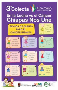 Conoce los síntomas del Cáncer Infantil #DIFChiapas #Fideicomiso #Salud