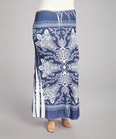 This Navy Paisley Sublimation Maxi Skirt - Plus by Poliana Plus is perfect! #zulilyfinds