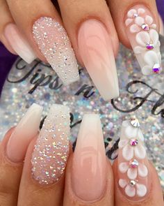 37 Creative Winter Nail Designs: Beste Muster im Jahr 2019 - - You are in the right place about wedding nails acrylic white Here we offer you the most beautiful pictures about the wedding Cute Acrylic Nails, Acrylic Nail Designs, Nail Art Designs, Unique Nail Designs, Painted Acrylic Nails, Ballerina Acrylic Nails, Fancy Nails, Cute Nails, Classy Nails