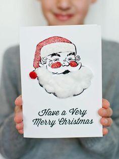Kids' Craft: Santa Holiday Card - 16 Handmade Holiday Cards on HGTV