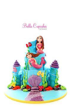 Mermaids & Underwater Palace cake