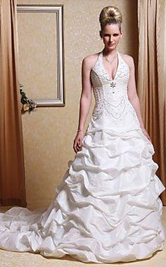 AXELIA - Vestido de Novia de Tafetán – EUR € 326.69
