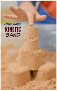Sensory Activity of the Week: Homemade Kinetic Sand - pinned by @PediaStaff – Please Visit ht.ly/63sNt for all our pediatric therapy pins