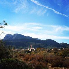The beautiful mountain village of Estivella, home of Supertone Records vintage residential recording studio, Valencia. Spain