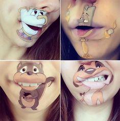 Makeup Artist Laura Jenkinson's Cartoon Lip Makeup #LauraJenkinson #lipmakeup #cartoonlips