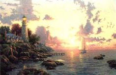 The Sea of Tranquility | Artist:Thomas Kinkade