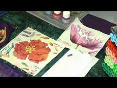 Simple textured backgrounds using fabric inks - YouTube