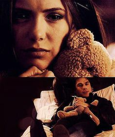 okay... it is very difficult to find a decent picture of Elena's teddy bear, but i've wanted a bear like hers since i started watching Vampire Diaries. (come on.. even DAMON likes her bear)