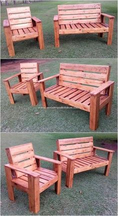 Diy Pallet Projects, Pallet Ideas, Wood Projects, Pallet Furniture Designs, Furniture Projects, Recycled Pallets, Wood Pallets, Pallet Garden Benches, Pallet Chairs