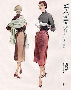 McCall's 9276 Sharp as a Tack Skirt 1953