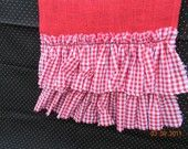 red burlap and gingham!