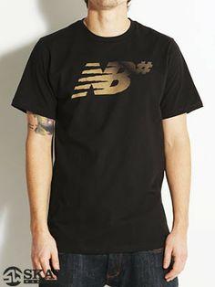 #New #Balance Hexagon #tshirt in Black/Safari $19.99