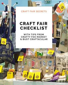 The essential craft fair checklist – featuring tips from Crafty Fox Market and Craftacular