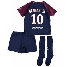 PSG Neymar Jr 10 Dětské Domácí Dres 17-18 Krátký Rukáv