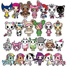 by tokidokibrand Happy International Women's Day! Cartoon Character Tattoos, Character Drawing, Hamtaro, Kawaii Drawings, Cute Drawings, Kawaii Tattoo, Cute Fantasy Creatures, Happy International Women's Day, Kawaii Chibi