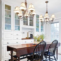 Coffee station with sink in breakfast room. A Total DIY Kitchen Redo in the Same Footprint Kitchen Redo, Kitchen Remodel, Kitchen Pantry, Kitchen Ideas, Pantry Design, Kitchen Design, Kitchen Wall Colors, Small Dining, Cool Kitchens