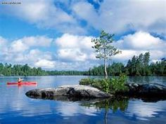Boundary Waters Canoe Area Wilderness--in Northern Minnesota, largely untouched by cars or even planes flying over (talk about a getaway...)