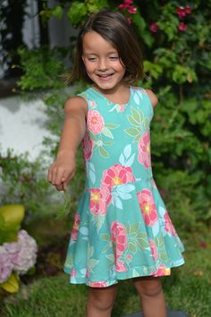 Girl's Dress Pattern A new addition to our knits line! The Juliet Dress. This adorable sundress is easy and so comfortable! Bodice is fully lined with loop closure at top of back bodice. Juliet Dress Pattern Beginner Sewing