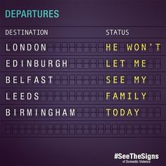 Isolation is a domestic violence tactic. Share this to help everyone #seethesigns