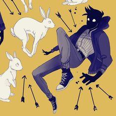 #draws #OCs I love bunnies by star_bite