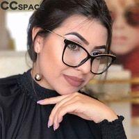 8c8568e0d6b 45593 Sexy Cat Eye Glasses Frames Women Glasses Unique Metal Thread Frame  Styles CCSPACE Brand Optical
