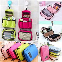 Details about Women Travel Camping Toiletry Hanging Wash Portable Makeup Cosmetic Storage Bag - Bags 2019 Cosmetic Storage, Bag Storage, Cosmetic Bag, Makeup Storage, Packing Tips For Travel, Travel Bags, Travel Essentials, Packing Hacks, Packing Cubes
