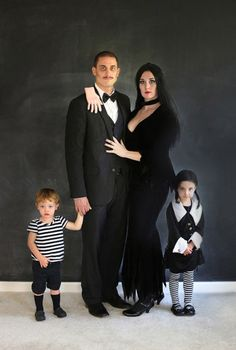 They're creepy and they're kooky... We can't think of a more fitting (and totally creepy) family costume than this. Little Pugsley and Wednesday are beyond adorable. And the hand on dad's shoulder is spookily good touch.