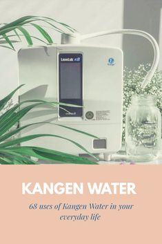 68 uses of Kangen Water. Ph Water, Hard Water Spots, Beauty Water, Kangen Water, Antibacterial Soap, Cotton Swab, Root Canal, Band Aid, Drinking Water