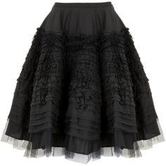 MCQ Alexander McQueen Tiered full skirt (2 115 AUD) ❤ liked on Polyvore featuring skirts, mini skirts, bottoms, saias, black, tiered ruffle skirt, ruffle mini skirt, mcq by alexander mcqueen, frilly skirt and tiered mini skirt