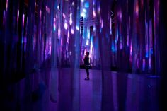 Ominous Cotton Scrim Scenic Design Installation Using Projection & Lighting Techniques|