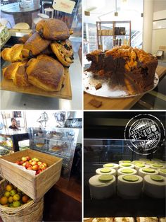 Sweet Street Bakery, Parramatta - chocolate croissants, honeycomb chocolate cake, farm fresh apples and oranges, lime cheesecakes