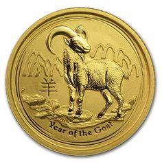 2015 1/10 oz Gold Lunar Year of the Goat .9999 Fine BU (In Capsule) | Bullion Exchanges