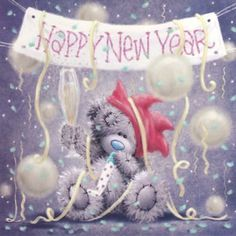 ♥ Tatty Teddy's **Happy New Year** ♥ Teddy Images, Teddy Pictures, Cute Pictures, Tatty Teddy, Christmas And New Year, Christmas Time, Christmas Cards, Vintage Christmas, New Year Wishes