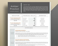 Resume Template, Professional Resume Template, Modern Resume Template, Creative Resume Template, Modern CV Template. Professional CV.